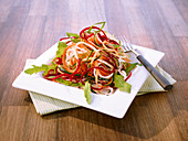 Beetroot, courgette and carrot salad