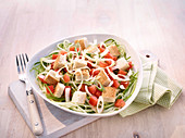 Tomato salad with croutons