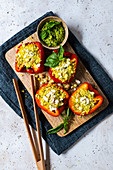 Stuffe peppers with feta