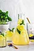 Lavendel-Basilikum-Limonade