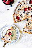 Bakewell tart with berries