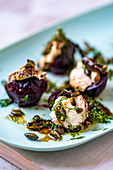 Vegeterian barbecued beetroot