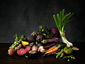 Garden vegatables and lentils