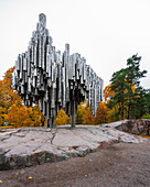 Sibelius Monument (made from steel pipes) in Sibelius Park, Helsinki, Finland