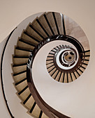 A spiral staircase in the Stockman department store, Helsinki, Finland (the largest store in Finland)