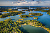 Wooded islands in the Archipelago Sea, Finland