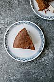 Almond cake with muscovado sugar