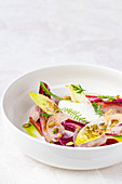 Chicory salad with pumkin seed oil