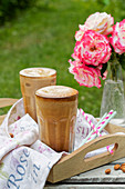 Frappe coffee in the garden