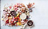 Mixed dessert plate