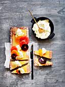 Grapefruit Curd Tart with Orange Cream