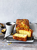 Passionfruit and Yoghurt Cake with Rosehip Syrup