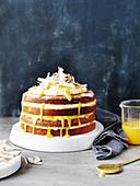 Coconut and Lemon Curd Cake