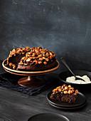 Macadamia and Chocolate Upside-Down Cake