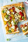 Filoteig-Tarte mit Gemüse und Feta