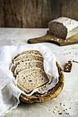 Gluten free sourdough bread sliced
