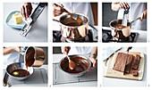 Preparing chocolate fudge