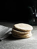 A stack of unleavened bread