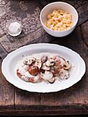 Hunter schnitzel with mushrooms