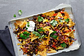 Mexican-style baked nachos