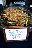 Pad Thai (Thai noodle dish) at a market stall
