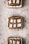 Cossack breads on a stone background