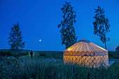A yurt on a campsite, Kustavi, west coast of Finland