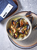 Mussel chowder with saffron