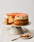 Cheesecake with salted caramel