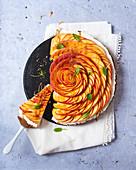 Mascarpone peach tart