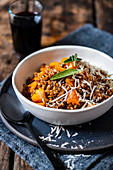 Spelt risotto with roasted butternut, sage and parmesan
