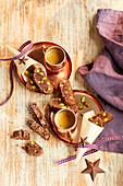 Weihnachtliche Cappuccino-Biscotti
