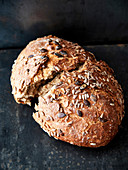Autumn bread with sunflower seeds and pumpkin seeds