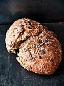 Autumn bread with sunflower seeds and pumpkin seeds