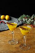 Canelazo (Equador), Getränk aus Aguardiente, Passionsfrucht, Zimt und Zitrone