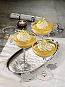Champagne cream in glasses
