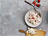 Eton Mess with strawberries