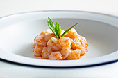 Ibiza's red prawn tartar