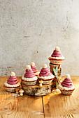 Santa hat muffins