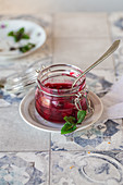 Sour cherries sauce