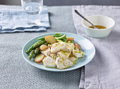 Swordfish and vegetable salad with citrus vinaigrette