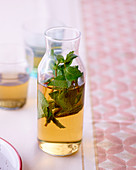 Herbal drink with mint