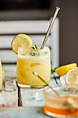 Mango lemonade mocktail