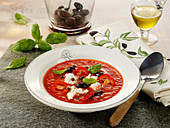 Cold red pepper soup
