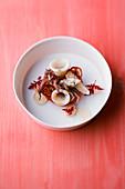 Calamaretti mit Zimt-Tomate und Ricotta-Creme