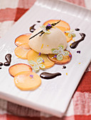 Panna cotta with pears (Italy)