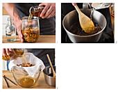 Preparing walnut liqueur