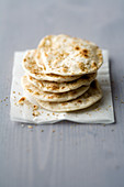Digestive chapatis with coriander