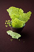 Lovage and quinoa crackers