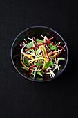Root vegetable salad with lemon balm and cardamom